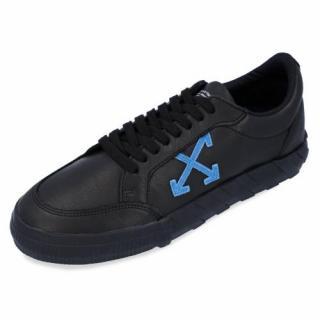 Off White Black Low Vulcanised Sneakers