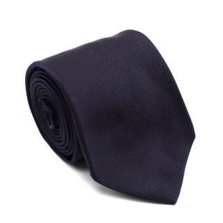 Drakes Navy Silk Handmade Tie