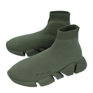 Balenciaga Khaki Speed Knit Sneakers