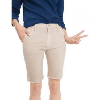 Mother Vagabond Natural Bermuda Shorts