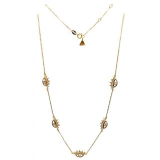 Bespoke 18ct Yellow Gold Diamond Eye Pendants Chain Necklace