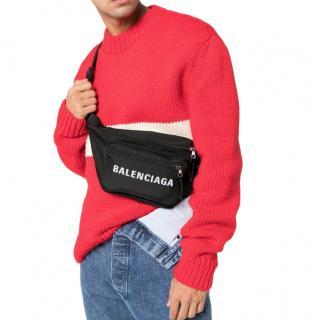 Balenciaga Black Nylon Wheel Belt Bag