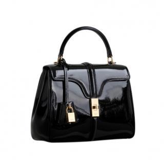 Celine Small 16 Bag in patent calfskin - Black