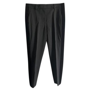 The Kooples Black Velvet Trim Tailored Pants
