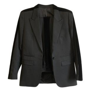 The Kooples Black Velvet Trim Tailored Jacket
