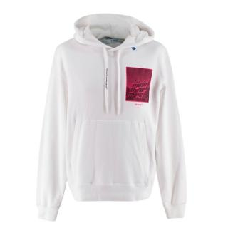 Off-White Pink/White Cotton Print Incompiuto Hoodie