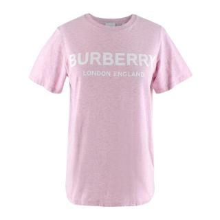 Burberry Pink Cotton Logo T-shirt