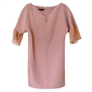 Elisabetta Franchi Crepe Chiffon Sleeve Dress