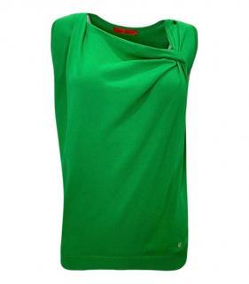 Carolina Herrera Green Sleeveless Top