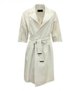 Carolina Herrera Beige Silk Trench Coat