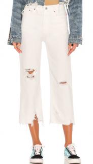 Denimist White Pierce High Rise Straight Jeans
