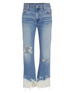 Denimist Dip Dye Pierce High Rise Straight Jeans