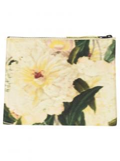 Erdem Blurred Floral Print Silk Pouch