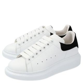Alexander McQueen White Black Oversize Sneakers
