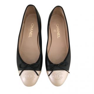 Chanel Bi-Colour Ballerina Flats