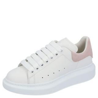 Alexander McQueen White/Pink Oversize Sneakers