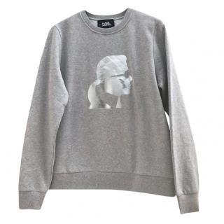 Karl Lagerfeld Grey Karl Silhouette Sweatshirt