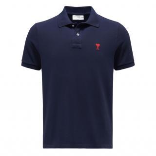 Ami Navy Blue Polo Shirt