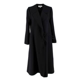 Loewe Black Wool Blend Wrap Coat