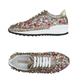 Casadei Rainbow Glitter Embellished Marvin Trainers