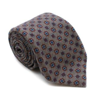 Marzullo Grey Pattern Wool Tie