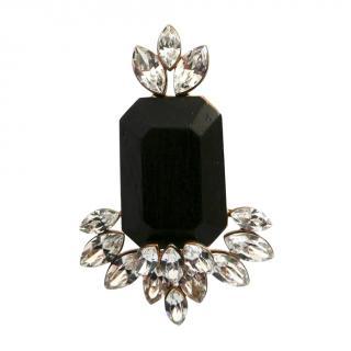 Dior Gold Tone Crystal EverDior Cocktail Ring