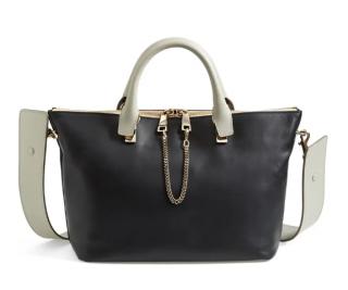 Chloe Black/Ivory Colourblock Baylee Tote Bag