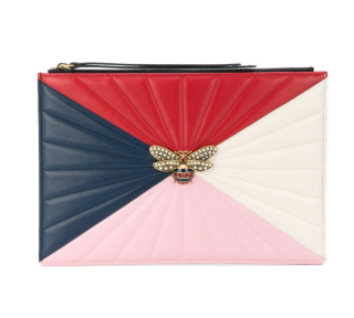 Gucci Colourblock Queen Margaret Embellished Pouch