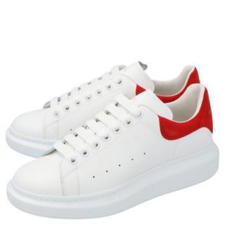 Alexander McQueen White/Red Larry Oversize Sneakers