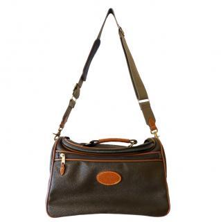 Mulberry Khaki Scotchgrain Leather Trim Bag