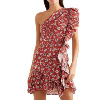 Isabel Marant Etoile one shoulder linen teller dress