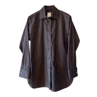Max Mara Indigo Linear Cut Denim Shirt