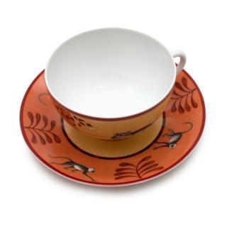 Hermes Porcelain 'Africa' Breakfast Cup & Saucer