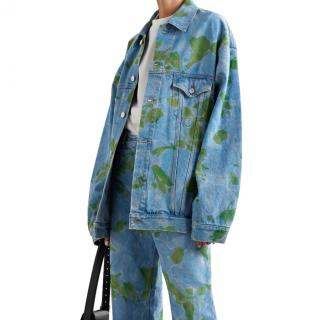 Balenciaga Oversized floral-print denim jacket