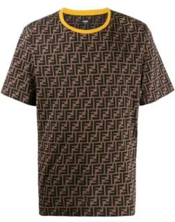 Fendi Tobacco Monogram FF T-Shirt