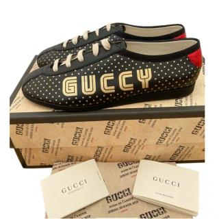 Gucci Black & Gold GUCCY Trainers
