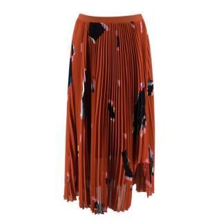 Proenza Schouler Rust Graphic Print Pleated Skirt