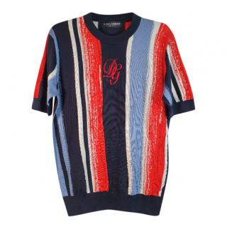 Dolce & Gabbana Brushstroke Silk Knit Top