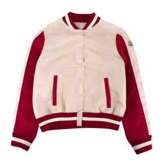 Moncler Pink and Red Bomber Jacket
