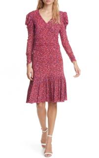 Diane von Furstenberg Alyssa Puff Long Sleeve Dress