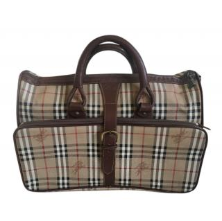Burberry Vintage Nova Check Travel Bag