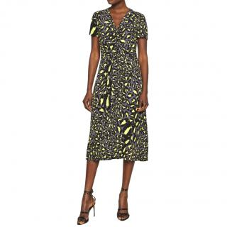 DVF Cecilia Animal Print Dress
