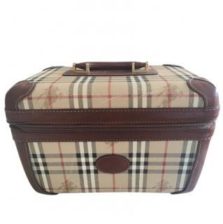 Burberry Vintage Leather Trim Check Vanity Case
