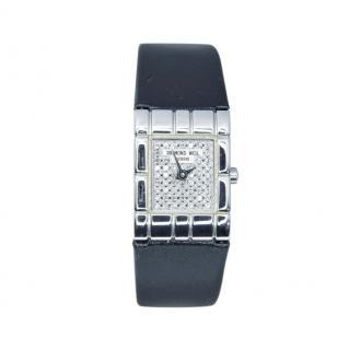 Raymond Weil 20mm Pave Diamond Stainless Steel Tema Watch