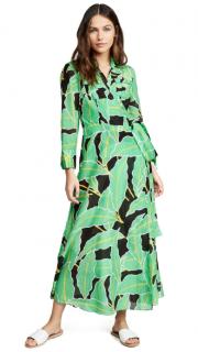 DVF Windsor Palm Giant Vetiver Wrap Dress