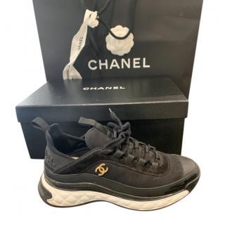 Chanel Black Resort Nylon/Calfskin Sneakers