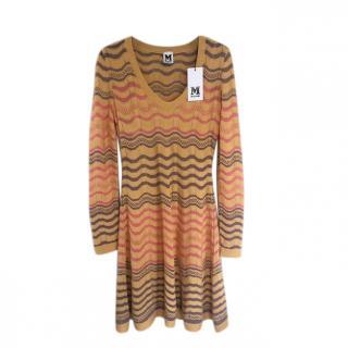 M Missoni  Chevron Knit A-Line Dress