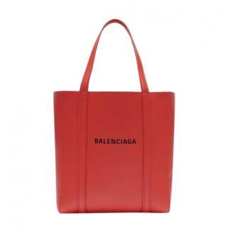 Balenciaga Red Leather Everyday XXS Tote