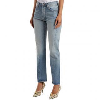Balenciaga Twist Leg Straight Cut Jeans