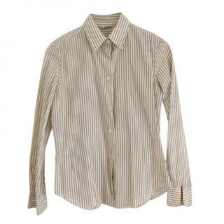 Loro Piana Beige Striped Shirt